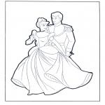 Stripfiguren Kleurplaten - Assepoester en de prins