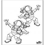 Allerlei Kleurplaten - Astronaut 1