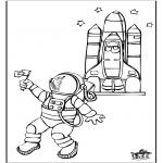 Allerlei Kleurplaten - Astronaut 2