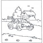 Allerlei Kleurplaten - Auto en huis