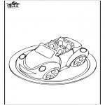 Allerlei Kleurplaten - Auto taart