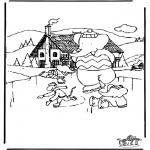Kleurplaten winter - Babar winter