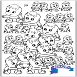 Knutselen - Babies tellen