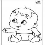 Thema Kleurplaten - Baby 12