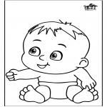Thema Kleurplaten - Baby 13