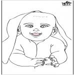 Thema Kleurplaten - Baby 15