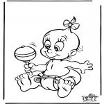 Thema Kleurplaten - Baby 4