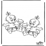 Thema kleurplaten - Baby 5