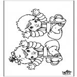 Thema Kleurplaten - Baby 9