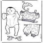 Knutselen - Baby aankleden
