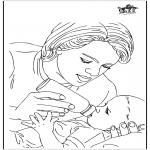 Thema Kleurplaten - Baby en moeder 1