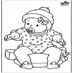 Thema kleurplaten - Baby meisje 2