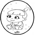 Thema kleurplaten - Baby prikkaart 1