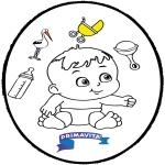 Thema Kleurplaten - Baby prikkaart 3