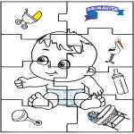 Thema Kleurplaten - Baby puzzel 2