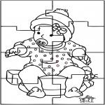 Thema Kleurplaten - Baby puzzel
