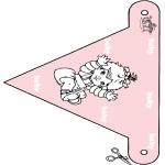 Thema Kleurplaten - Baby vlaggetje 3