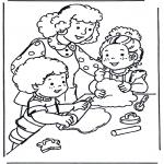 Kinderkleurplaten - Bakken