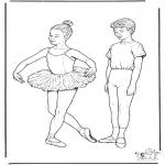 Allerlei Kleurplaten - Ballet 1