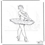 Allerlei Kleurplaten - Ballet 3