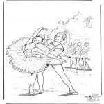 Allerlei Kleurplaten - Ballet 4