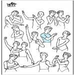 Allerlei Kleurplaten - Ballet houdingen