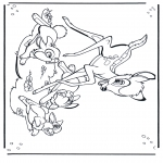 Stripfiguren Kleurplaten - Bambi 1
