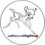 Stripfiguren Kleurplaten - Bambi uitnodiging