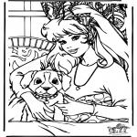 Stripfiguren Kleurplaten - Barbie 10