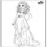 Stripfiguren Kleurplaten - Barbie trouwjurk