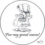 Knutselen - Bedankt mamma