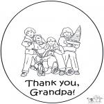 Thema Kleurplaten - Bedankt opa
