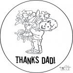 Thema Kleurplaten - Bedankt papa 2