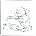 Kinderkleurplaten - Beertje Paddington 1