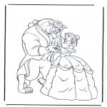 Stripfiguren Kleurplaten - Belle en het Beest 1