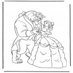 Stripfiguren Kleurplaten - Belle en het Beest 3