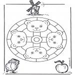 Mandala Kleurplaten - Berenmandala