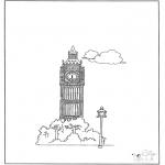 Allerlei Kleurplaten - Big Ben