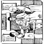Kleurplaten Bijbel - Bijbel doop 1