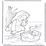 Kleurplaten Bijbel - Bijbelkleurplaten Mozes
