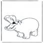 Blij nijlpaard