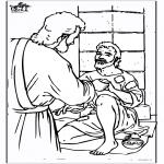Kleurplaten Bijbel - Blinde man