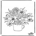 Allerlei Kleurplaten - Bloemen 2