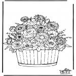 Allerlei Kleurplaten - Bloemen 3