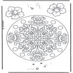 Mandala Kleurplaten - Bloemen geomandala