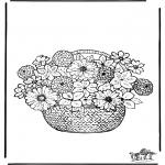Allerlei Kleurplaten - Bloemen kleurplaten