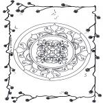 Mandala Kleurplaten - Bloemen mandala