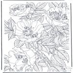 Allerlei Kleurplaten - Bloemen met elfjes