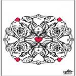 Thema Kleurplaten - Bloemen Valentijn