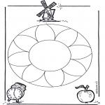 Mandala Kleurplaten - Bloemenmandala 1